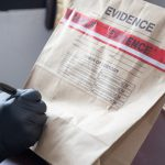 Evidence Bag Being Put to Use